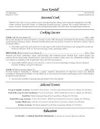 Sushi Chef Resume Objective Sample For Cook Examples Cookery