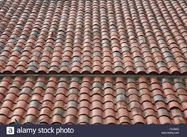 roof top roofing tiles terracotta clay roof stock photo royalty