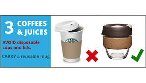 AVOID Disposable Cups And Lids DRINK From A Reusable Bottle