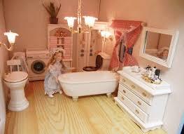 4pcs miniatur weiße badewanne 1 spiegel badezimmer möbel