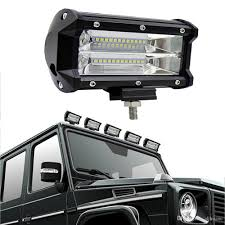 100 Truck Spot Light 72W 5 Inch LED Work Flood Square 12V 24V Off Road