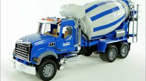 100 Toy Cement Truck MACK Granite Mixer Bruder 02814 Muffin Songs Review