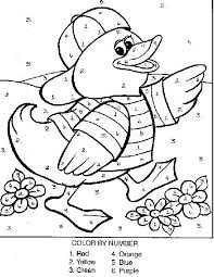 Easy Color By Number Worksheets Free Printable Coloring Pages