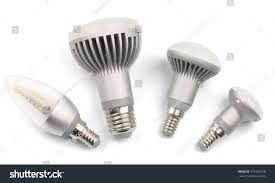 set led light bulbs e14 base stock photo 378306793