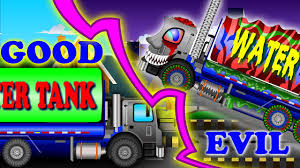 Good Vs Evil | Water Tank Trucks | Scary Monster Trucks For Children ... Kids Videos Buy Vehicles Zobic Dumper Truck Trucks For Children Video Monster Trucks Car Wash For Kids Children The Monster Big Channel Garbage Truck Youtube And More Childrens Book Em Makins Impressive Pictures Of Cstruction Cartoon Cars Making Trucks Compi Dailymotion Video Formation Babies Kindergarten Fire Accsories Puzzles Excavators Cranes Transporter Quick Learning Street Names And