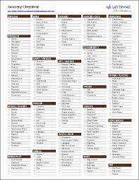 Free Printable Grocery List And Shopping Template