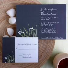 Elegant Country Rustic Blue Wedding Invitation Kits EWI123 As Low 094 Invitations