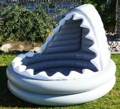 Inflatable Tubes For Toddlers by Amazon Com Pottery Barn Kids Inflatable Shark Kiddie Pool Toys