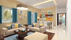 100 Home Interior Designe Furdo Design Themes Summer Hues 3D Walkthrough Bangalore