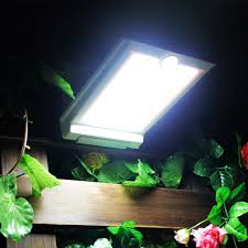 Super Bright 46 LED Outdoor Solar Lights Power Light With PIR