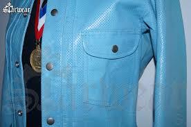 yohji yamamoto adidas y 3 heroes perforated blue leather biker