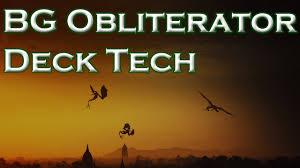 bg obliterator deck tech youtube