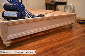 diy stained wood raised platform bed frame u2013 finished