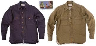 the garrison shirt double indigo twill and gb olive green denim