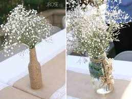 Babys Breath Flowers In Mason Jars Cheap Simple And Pretty