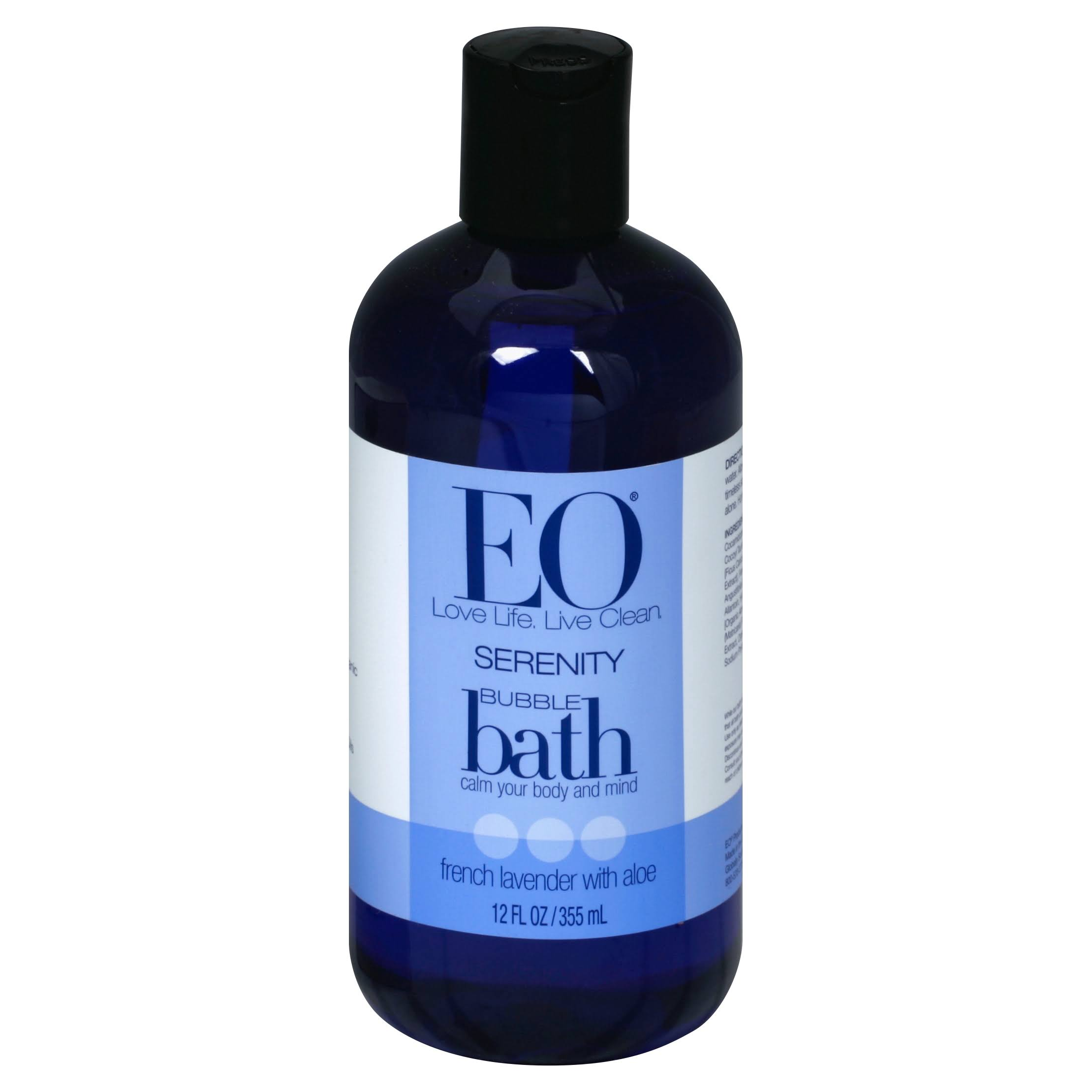 EO Products Serenity Bubble Bath - French Lavender with Aloe, 12oz