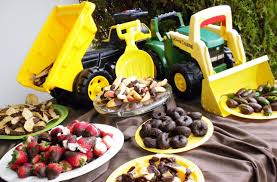 100 Tonka Truck Birthday Party Baby Boy Shower Using The Tonka Trucks To Hold The Food Or Dumping