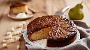 birnenkuchen mit karamellcreme