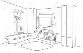 badezimmer interieur linie skizze badezimmer badezimmer möbel set