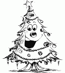 Christmas Tree Coloring Page Print by Cartoon Christmas Tree Pictures Many Interesting Cliparts