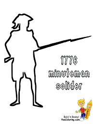 Print Out American Revolutionary Soldier PrintOut At YesColoring