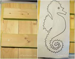 Easy Sea Horse String Art