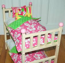 American Girl Doll Bed Kanani Bunk Bed With Hawaiian Bedding