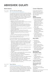 Photo Gallery Of The It Service Delivery Manager Resume Sample