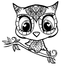 Owl Color Page Animal Coloring Pages Plate Sheetprintable