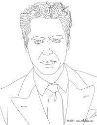 ROBERT DOWNEY JUNIOR American Actor Coloring Page Color Online Print