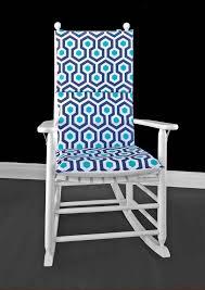 100 Navy Blue Rocking Chair Hexagon Geometric Cushion Cover Etsy