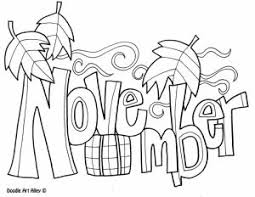 November Coloring Pages To Download And Print For Free Intended