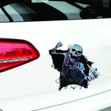 100 Back Window Decals For Trucks 1PC Waterproof DIY 3D Car Sticker Skull Car Hoods Trunk Thriller