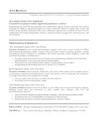 Resume Sample For Executive Assistant An Entry Level Admin