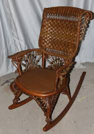 Bargain John's Antiques | Fancy Victorian Wicker Rocker ...
