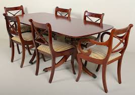 Antique Vintage Dining Table And 6 Chairs Fine Quality Mahogany ...