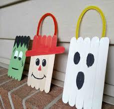 Ideas Using Paper And Rhcom Popsicle Candy Corn Kid Craftrhgluedtomycraftsblogcom Craft Work With Icecream Sticks