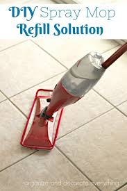 spray mop diy refill cleaning solution organize and decorate