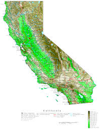 Original High Resolution Image Contour California Map