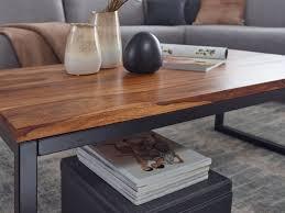 finebuy couchtisch 110x40x60 cm sheesham massivholz metall wohnzimmertisch industrial style designer sofatisch tisch wohnzimmer loungetisch