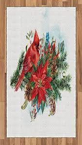 kardinal bereich teppich lunarable weihnachts vogel auf
