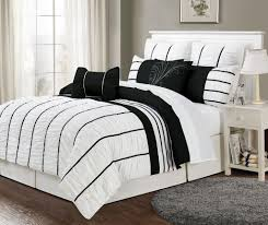 Black And White Bed Sets Dark Brown Color Wooden Frames Flower Wall Paper