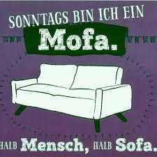 lustige sprüche postkarte sonntags bin ich ein mofa