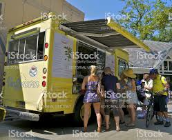 100 Truck Central People At Gourmet Food Park New York City Stock Photo
