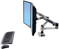 Ergotron Lx Desk Mount Lcd by Et 45 245 026 Mounting Arm For Two Monitors Side By Side At
