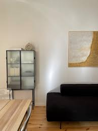 fermliving wohnzimmer leinwand vitrine blackcou