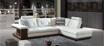 canapé en cuir blanc canapé d angle droit cuir taupe lumia