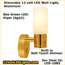 piper dimmable 12 volt led wall sconce bee green brand brass