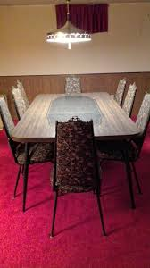 100 Red Formica Table And Chairs Large KitchenDining Room SetParty With 1 Leaf 8