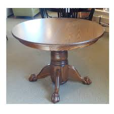 100 Oak Pedestal Table And Chairs Claw Foot Amish Furniture Mattress Store